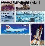 Gibraltar gib 1036#1041  2003 Gemotoriseerde luchtvaart  Postfris