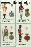 Gibraltar gib 302#305  1973 Militaire uniformen  Postfris