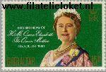 Gibraltar gib 408#  1980 Queen Mother  Postfris