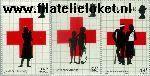 Gibraltar gib 569#571  1989 Rode Kruis  Postfris