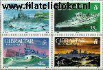 Gibraltar gib 690#693  1994 Oorlogsschepen W.O. II  Postfris