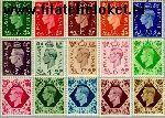 Groot-Brittannië grb 198#211+227  1937 Koning George VI  Postfris