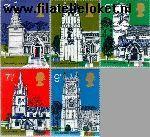 Groot-Brittannië grb 597#601  1972 Dorpskerken  Postfris