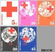 Nederland NL 1015#1019  1972 Rode Kruis  cent  Gestempeld