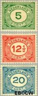 Nederland NL 107#109  1921 Cijfer type 'Vürtheim'  cent  Postfris