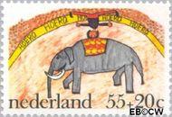 Nederland NL 1105  1976 Kindertekeningen 55+20 cent  Gestempeld