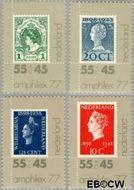 Nederland NL 1137#1140  1977 Postzegeltentoonstelling Amphilex '77  cent  Gestempeld