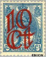 Nederland NL 118  1923 Opruimingsuitgifte 10#12½ cent  Gestempeld