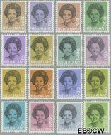 Nederland NL 1237#1252  1981 Koningin Beatrix- Type 'Struycken'  cent  Gestempeld