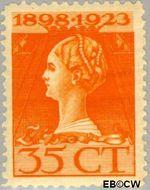Nederland NL 127  1923 Koningin Wilhelmina- Regeringsjubileum 35 cent  Gestempeld