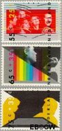 Nederland NL 1363#1365  1986 Vaardigheden  cent  Gestempeld