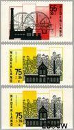 Nederland NL 1375a#1375c  1987 Industriële Monumenten  cent  Gestempeld