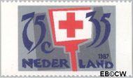 Nederland NL 1384b  1987 Rode Kruis- Activiteiten 75+35 cent  Gestempeld