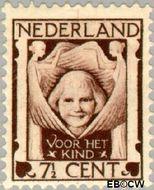 Nederland NL 142  1924 Kinderkopje tussen engelen 7½+3½ cent  Gestempeld
