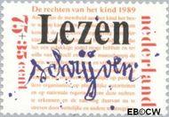 Nederland NL 1437  1989 Rechten Kind 75+35 cent  Gestempeld