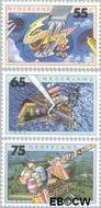 Nederland NL 1462#1464  1991 Milieu  cent  Gestempeld