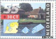 Nederland NL 1468  1991 Boerderijen 55+30 cent  Gestempeld