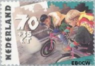Nederland NL 1484  1991 Kinderspelen 70+35 cent  Gestempeld