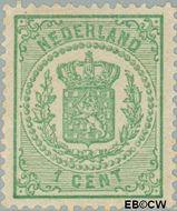 Nederland NL 15  1869 Rijkswapen 1 cent  Gestempeld