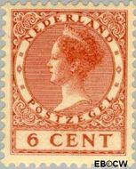 Nederland NL 150  1925 Koningin Wilhelmina- Type 'Veth' 6 cent  Ongebruikt