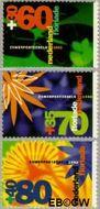 Nederland NL 1521#1523  1992 Floriade  cent  Gestempeld