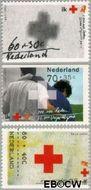 Nederland NL 1535a#1535c  1992 Rode Kruis  cent  Gestempeld