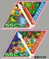 Nederland NL 1579#1580  1993 Gereduceerd tarief  cent  Gestempeld