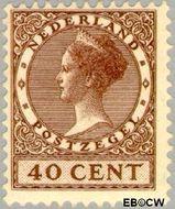 Nederland NL 160  1924 Koningin Wilhelmina- Type 'Veth' 40 cent  Gestempeld