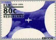 Nederland NL 1605  1994 K.L.M. 80 cent  Gestempeld