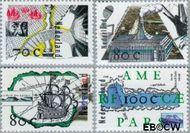 Nederland NL 1694#1697  1996 Ontdekkingsreizen  cent  Postfris
