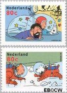 Nederland NL 1839a#1839b  1999 Strippostzegels- Kuifje  cent  Gestempeld