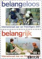Nederland NL 1968a#1968b  2001 Vrijwilligerswerk  cent  Gestempeld