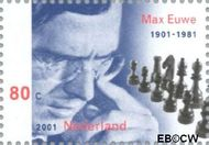 Nederland NL 1969b  2001 Euwe, Max 80 cent  Postfris