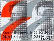 Nederland NL 2046a  2002 Koninklijk Huwelijk 39 cent  Postfris