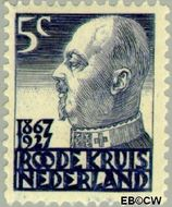 Nederland NL 205  1927 Rode Kruis 5+3 cent  Gestempeld