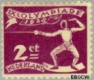 Nederland NL 213  1928 Olympische Spelen- Amsterdam 2+1 cent  Gestempeld
