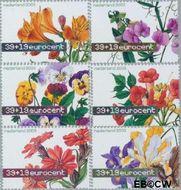 Nederland NL 2164#2169  2003 Aquarellen van bloemen  cent  Gestempeld