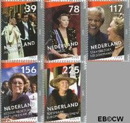 Nederland NL 2342a#2342e  2005 Regeringsjubileum Koningin Beatrix  cent  Gestempeld