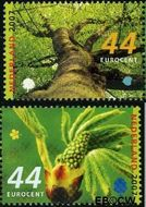 Nederland NL 2493#2494  2007 Bomen in de lente  cent  Gestempeld
