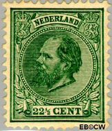 Nederland NL 25  1888 Koning Willem III- 5e emissie 22½ cent  Gestempeld