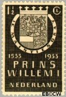 Nederland NL 252  1933 Prins Willem I 1½ cent  Gestempeld
