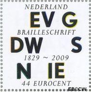 Nederland NL 2627  2009 Lees Mee- Braille 44 cent  Gestempeld