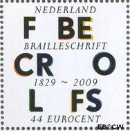 Nederland NL 2632  2009 Lees Mee- Braille 44 cent  Gestempeld