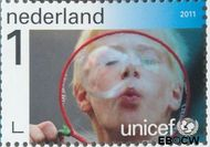 Nederland NL 2832  2011 UNICEF 65 jaar 1 cent  Gestempeld