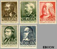 Nederland NL 318#322  1939 Bekende personen   cent  Gestempeld
