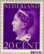 Nederland NL 339  1940 Wilhelmina- Type 'Konijnenburg' 20 cent  Gestempeld