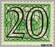 Nederland NL 362  1940 Cijfer type 'Guilloche' of ' tralie' 20 cent  Postfris