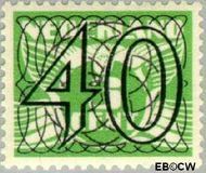 Nederland NL 366  1940 Cijfer type 'Guilloche' of ' tralie' 40 cent  Gestempeld