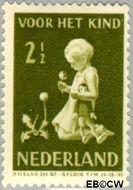 Nederland NL 375  1940 Kind met bloemen 2½+2½ cent  Gestempeld