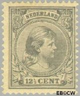 Nederland NL 38  1891 Koningin Wilhelmina- 'Hangend haar' 12½ cent  Gestempeld